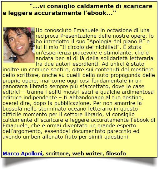 """Apolloni - Testimonianza sui """"109 Segreti..."""" di Properzi"""