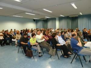 I circa 100 partecipanti alla presentazione a Fiume di Toni Carli