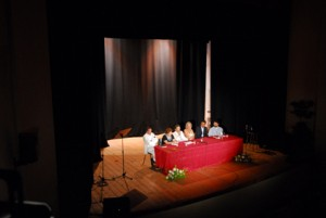 AnnaMaria Ragaini al Teatro di Loreto col Sindaco