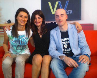 Arpetti e Assouad in una intervista televisiva a Vera TV