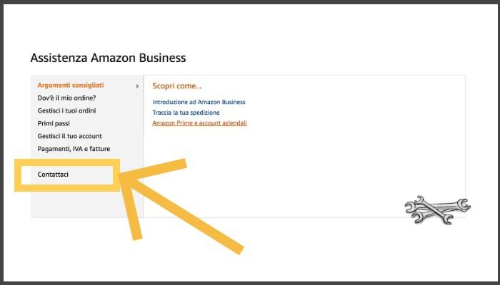 Contatta Assistenza Amazon Business per le librerie telefono email chat
