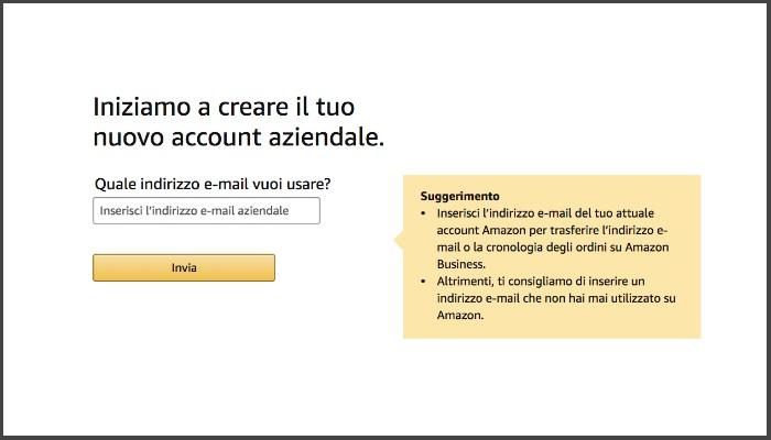 Email Aziendale per iscrizione Amazon Business per le Librerie