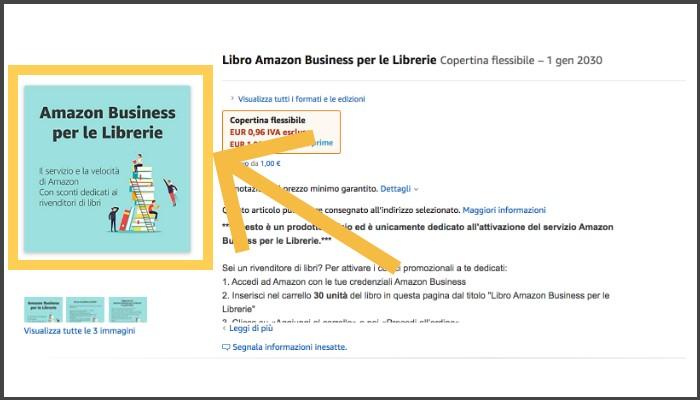 Libro Amazon Business per le Librerie per attivare 6 codici