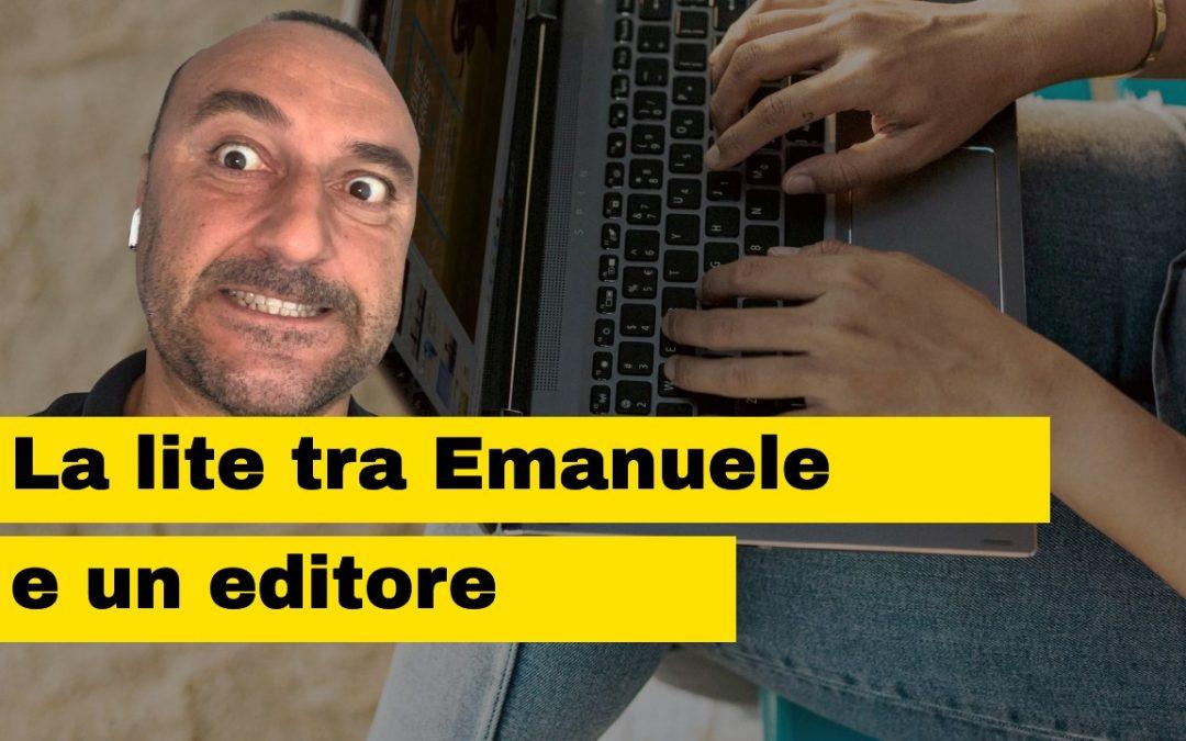 La lite tra Emanuele Properzi e un editore